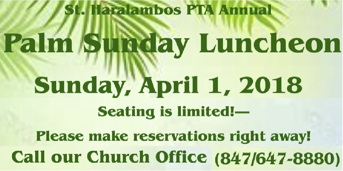 Palm Sunday Luncheon Carousel